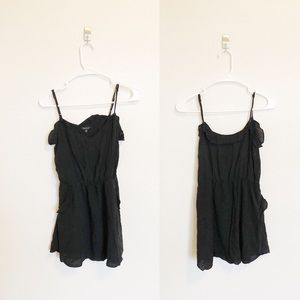 Aritzia Talula Black Ruffle Mini Dress Size XS